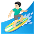 🏄🏻‍♂️ man surfing: light skin tone Emoji on Google Platform