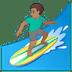 🏄🏽♂️ man surfing: medium skin tone Emoji on Google Platform