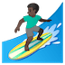 🏄🏿‍♂️ man surfing: dark skin tone Emoji on Google Platform