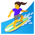 🏄♀️ woman surfing Emoji on Google Platform