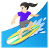 🏄🏻♀️ woman surfing: light skin tone Emoji on Google Platform