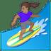 🏄🏽♀️ woman surfing: medium skin tone Emoji on Google Platform