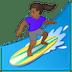 🏄🏾♀️ woman surfing: medium-dark skin tone Emoji on Google Platform