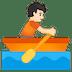 🚣🏻 person rowing boat: light skin tone Emoji on Google Platform
