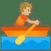 🚣🏼 person rowing boat: medium-light skin tone Emoji on Google Platform