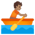🚣🏽 person rowing boat: medium skin tone Emoji on Google Platform