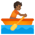 🚣🏾 person rowing boat: medium-dark skin tone Emoji on Google Platform