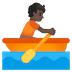 🚣🏿 person rowing boat: dark skin tone Emoji on Google Platform