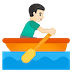 🚣🏻‍♂️ man rowing boat: light skin tone Emoji on Google Platform
