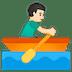 🚣🏻♂️ man rowing boat: light skin tone Emoji on Google Platform