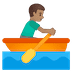 🚣🏽♂️ man rowing boat: medium skin tone Emoji on Google Platform