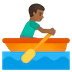🚣🏾‍♂️ man rowing boat: medium-dark skin tone Emoji on Google Platform
