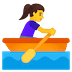🚣♀️ Woman Rowing Boat Emoji on Google Platform