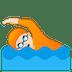 🏊🏻 person swimming: light skin tone Emoji on Google Platform