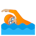 🏊🏼 person swimming: medium-light skin tone Emoji on Google Platform