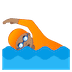 🏊🏽 person swimming: medium skin tone Emoji on Google Platform