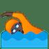 🏊🏿 person swimming: dark skin tone Emoji on Google Platform