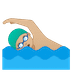 🏊🏼‍♂️ man swimming: medium-light skin tone Emoji on Google Platform