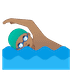 🏊🏽‍♂️ man swimming: medium skin tone Emoji on Google Platform