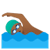 🏊🏾‍♂️ man swimming: medium-dark skin tone Emoji on Google Platform