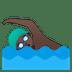 🏊🏿♂️ man swimming: dark skin tone Emoji on Google Platform