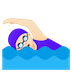 🏊🏻‍♀️ woman swimming: light skin tone Emoji on Google Platform