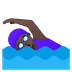 🏊🏿♀️ woman swimming: dark skin tone Emoji on Google Platform