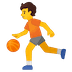 ⛹️ person bouncing ball Emoji on Google Platform