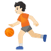 ⛹🏻 Light Skin Tone Person Bouncing Ball Emoji on Google Platform