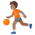 ⛹🏽 person bouncing ball: medium skin tone Emoji on Google Platform