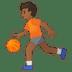 ⛹🏾 person bouncing ball: medium-dark skin tone Emoji on Google Platform