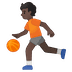 ⛹🏿 person bouncing ball: dark skin tone Emoji on Google Platform