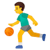 ⛹️‍♂️ man bouncing ball Emoji on Google Platform