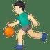 ⛹🏻♂️ man bouncing ball: light skin tone Emoji on Google Platform