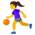 ⛹️‍♀️ woman bouncing ball Emoji on Google Platform