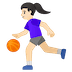 ⛹🏻‍♀️ woman bouncing ball: light skin tone Emoji on Google Platform