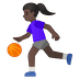 ⛹🏿‍♀️ Dark Skin Tone Woman Bouncing Ball Emoji on Google Platform