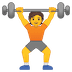 🏋️ Person Lifting Weights Emoji on Google Platform