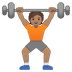 🏋🏽 person lifting weights: medium skin tone Emoji on Google Platform