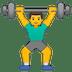 🏋️♂️ man lifting weights Emoji on Google Platform