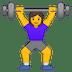 🏋️♀️ woman lifting weights Emoji on Google Platform