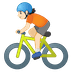 🚴🏻 person biking: light skin tone Emoji on Google Platform