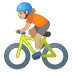 🚴🏼 Medium Light Skin Tone Person Biking Emoji on Google Platform