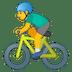 🚴♂️ man biking Emoji on Google Platform