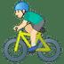 🚴🏻♂️ man biking: light skin tone Emoji on Google Platform