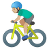 🚴🏼‍♂️ Medium Light Skin Tone Man Biking Emoji on Google Platform