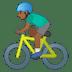 🚴🏾♂️ man biking: medium-dark skin tone Emoji on Google Platform