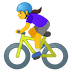 🚴♀️ woman biking Emoji on Google Platform
