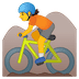 🚵 person mountain biking Emoji on Google Platform