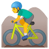 🚵‍♂️ man mountain biking Emoji on Google Platform